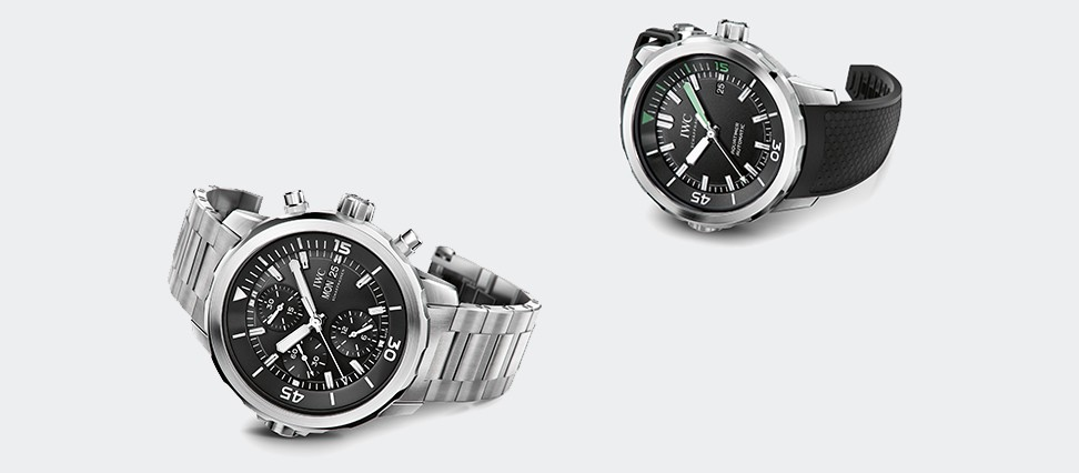Aquatimer Chronograph IW376804 and Aquatimer Automatic IW329001
