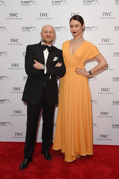 DIFF-2016-Georges Kern (L) and Olga Kurylenko (R)